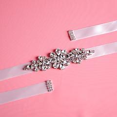 Satijn Huwelijk / Feest/Uitgaan / Dagelijks gebruik Sjerp-Sierstenen / Kristal / Strass Dames 98 ½ In (250Cm)Sierstenen / Kristal /