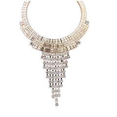 Fashion Exaggeration Metallic Necklace Trapezoid