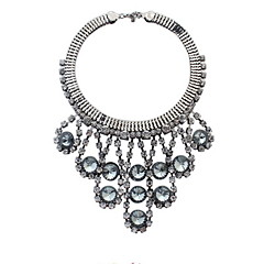 Exaggeration Atmosphere Sparkling Crystal Bead Curtain Tassel Necklace