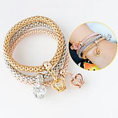 Bracelet Charmes pour Bracelets Alliage Forme de Couronne Mode Bijoux Cadeau Doré / Argent,1set