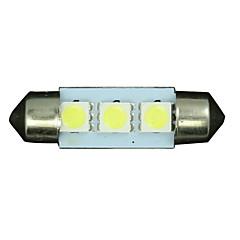 פנים לבנים 4x 36mm 3 5050 SMD מפת כיפת לויה הובילו de3175 מנורת אור 3022 12v