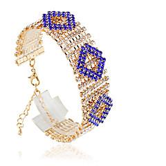 Dames Tennis Armbanden Modieus Legering Cirkelvorm Zwart Rood Groen Blauw Lichtblauw Sieraden Voor Bruiloft 1 stuks