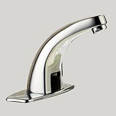 Zeitgenössisch Mittellage berühren / berührungslos with  Messingventil Hände frei Ein Loch for  Chrom , Waschbecken Wasserhahn