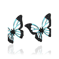 עגיל Animal Shape תכשיטים 1 זוג אופנתי חתונה / Party / יומי / קזו'אל סגסוגת נשים שחור / כחול