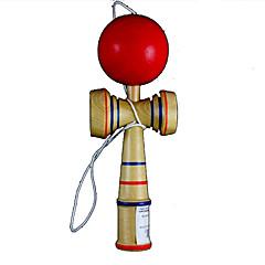 gust clasic kendama joc puzzle jucărie - lemn + roșu