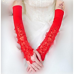Opera Length Fingerless Glove Polyester Bridal Gloves Spring Summer Fall Winter lace