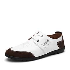 Oxfords-LæderHerre-Sort Blå Brun Hvid-Fritid-Flad hæl
