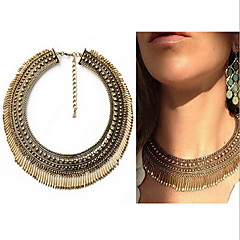 Women's Choker Necklaces Pendant Necklaces Statement Necklaces Circle Drop Alloy Bohemian Personalized Statement Jewelry Fashion European
