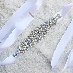 Satin Hochzeit Schärpe-Perlen Damen 180cm Perlen