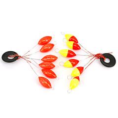10pcs anmuka sete bóias de pesca estrela-tronco flutuante rolhas feijão pesca flotteur peche transporte da gota