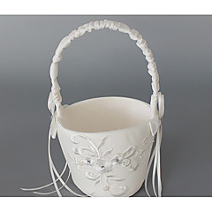Wedding Flower Basket Ribbons Classic Theme
