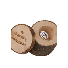 ''you will forever be my always'' Shabby Rustic Wedding Ring Bearer Box Wooden