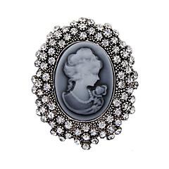 kvinners mote krystall antikke sølv vintage brosje pins smykker dronning rhinestone brosjer