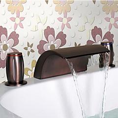Öl eingerieben Bronze Wasserfall Waschbecken Wasserhahn