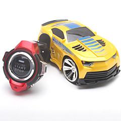 Lastenvaunut JJRC Voice Car 1:24 Harjaton sähköinen RC Car fast 2,4G Sininen / Keltainen / Vihreä / Harmaa / Punainen Valmiina käyttöön