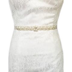 Satin Mariage / Fête/Soirée / Quotidien Ceinture-Billes / Perles / Cristal Femme 250cm Billes / Perles / Cristal