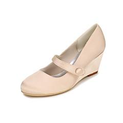 Women's Heels Spring / Summer / Fall Wedges / Heels / Round Toe Silk Wedding / Party & Evening