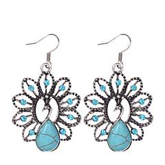 עגיל Animal Shape תכשיטים 1 זוג וינטאג' / סגנון בוהמיה Party / יומי / קזו'אל סגסוגת / אבן נוצצת / מצופה כסף נשים / נערות כחול