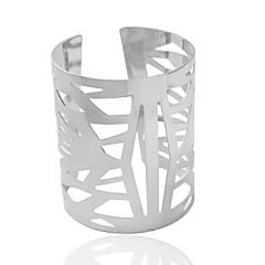 צמידים צמידי חפתים סגסוגת Tube Shape אופנתי תכשיטים מתנות מוזהב / כסף,1pc