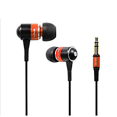 AWEI Q3 Super Bass earphones Noise cancelling Clear sound in ear earphone Fiber Cable for MP3