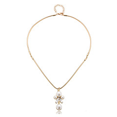 Modische Halsketten Anhängerketten Schmuck Alltag Modisch Aleación Goldfarben 1 Stück Geschenk