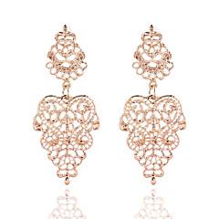 אופנתי וינטאג' ציפוי זהב סגסוגת Flower Shape זהב כסף תכשיטים ל חתונה Party קזו'אל 1 זוג