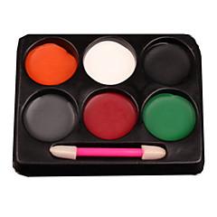6 Blush Secos Pó Pressionado Cobertura Rosto Preta / Cinza / Verde / Vermelho / Branco / Laranja N/A Vankas