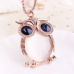 Women's Pendant Necklaces Gemstone Zircon Rhinestone Silver Plated Opal Rose Gold Plated Alloy Fashion Gift Boxes & Bags Silver Rose Gold