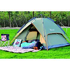 2 osobe Šator Dvaput Automatski šator Jedna soba šator za kampiranje 2000-3000 mm Fiberglass PU Oksford Otporno na vlagu Vodootporno-