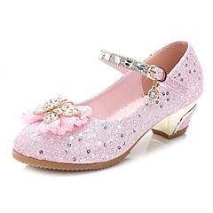 Ballerine-Matrimonio Formale Casual Serata e festa-Comoda Light Up Shoes-Piatto-Sintetico-Rosa Dorato Pesca Tessuto almond