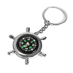 ziqiao vene ruoripyörään kompassi avaimenperä uutuuden keskeinen ketjussa avaimenperä sinkkiseos lahja