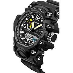 SANDA Herren Paar Sportuhr Militäruhr Smart Uhr Modeuhr Armbanduhr digital Japanischer QuartzLED Chronograph Wasserdicht Duale Zeitzonen