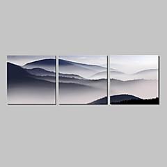 Leinwandkopie Art Landschaft, Berg, Set von 3