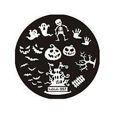 halloween ontwerp round roestvrij stalen spijker platen