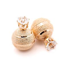 ファッション ビンテージ かわいいスタイル 欧風 銀メッキ ゴールドメッキ 合金 円形 ゴールド シルバー ジュエリー のために パーティー 日常 カジュアル 1ペア