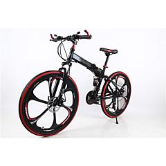 Geländerad / Falträder Radsport 21 Geschwindigkeit 26 Zoll/700CC Herren SIMANO TX30 Doppelte Scheibenbremsen Federgabel Hintere Federung