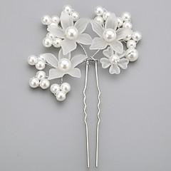 Mulheres Menina das Flores Liga Imitação de Pérola Acrilíco Capacete-Casamento Ocasião Especial Alfinete de Cabelo 1 Peça