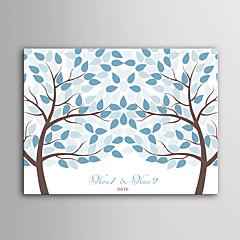 דואר בית בד חתימה אישית הדפסת מסגרת בלתי נראה - שני עצים