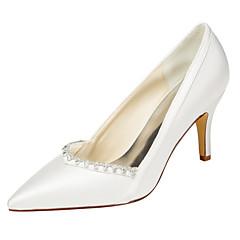 Homme-Mariage / Habillé / Soirée & Evénement-Ivoire / Blanc-Talon Aiguille-Others-Chaussures à Talons-Satin Elastique