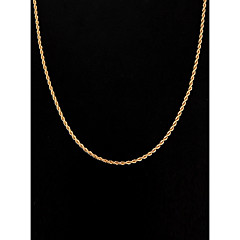 60cm,3mm,18K Gold Plated Thin Figaro Chain Men's Swirl Chain Necklace,Uneasy Fade Jewelry Christmas Gifts