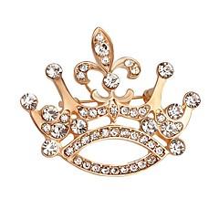 女性のための熱い販売の輝くクリスタルの王冠のブローチ