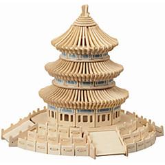 직소 퍼즐 나무 퍼즐 빌딩 블록 DIY 장난감 중국 건축 1 나무 크리스탈