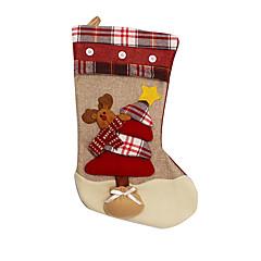 크리스마스 장식 / 크리스마스 장난감 홀리데이 용품 3Pcs 크리스마스 텍스타일 아이보리 / 화이트 / 골드