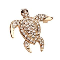 warm te koop glanzend kristal schildpad broche voor vrouwen