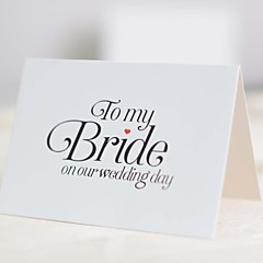 The wedding gift for bride / Bridal Shower Cards / Engagement Party Cards / Wedding Menu / Invitation 25 pieces