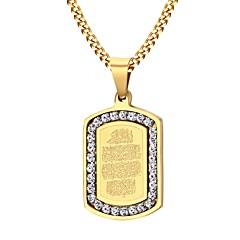 Miesten Riipus-kaulakorut Cubic Zirkonia Ruostumaton teräs Zirkoni Gold Plated pukukorut Muoti Korut Käyttötarkoitus Party Päivittäin