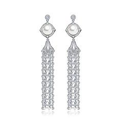 Earring Drop Earrings Jewelry Women Halloween / Wedding / Party / Daily Zircon 1 pair As Per Picture