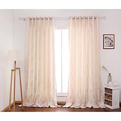 zwei Panele Window TreatmentBlume Schlafzimmer Polyester Stoff Vorhänge drapiert Haus Dekoration For Fenster