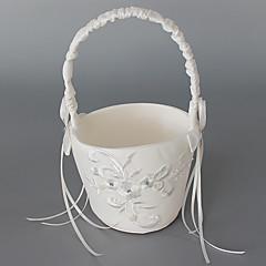 """Blumenkorb Satin 6"""" (15 cm) Bänder Stickereien 1"""
