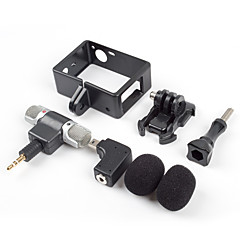 Acessórios para GoPro Microfone Conveniência, Para-Câmara de Acção,Gopro Hero 3 / Gopro Hero 3+ / Gopro Hero 4 SilverUniversal /